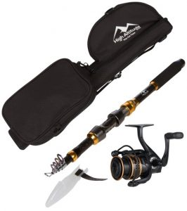High Altitude Brands Backcountry backpacking hiking travel telescopic fishing rod reel case