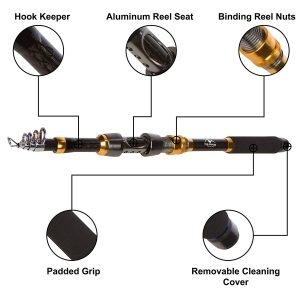 High Altitude Brands Telescopic Fishing Rod Features