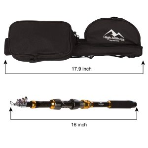 High Altitude Brands Telescopic Fishing Rod and Case Lengths