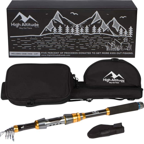 High Altitude Brands Backcountry Telescopic Fishing Rod Pole Case Photo3_750