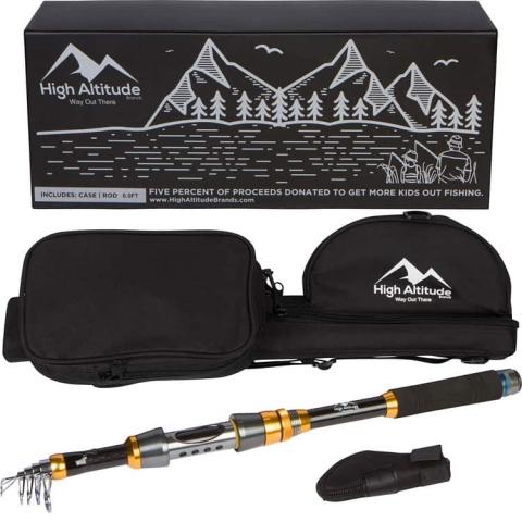 High Altitude Brands Backcountry Telescopic Fishing Rod Pole Case Photo3_750