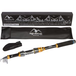 High Altitude Brands Backcountry Telescopic Fishing Rod Pole Photo1_750