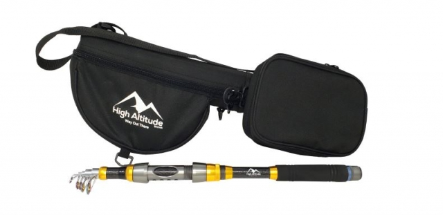 High Altitude Brands new telescopic Backcountry fishing rod