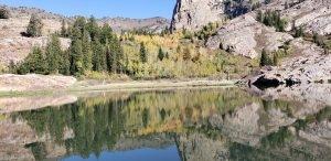 Beautiful Fall Colors on Lake Lillian up Big Cottonwood Canyon Lake Blanche Trail Utah