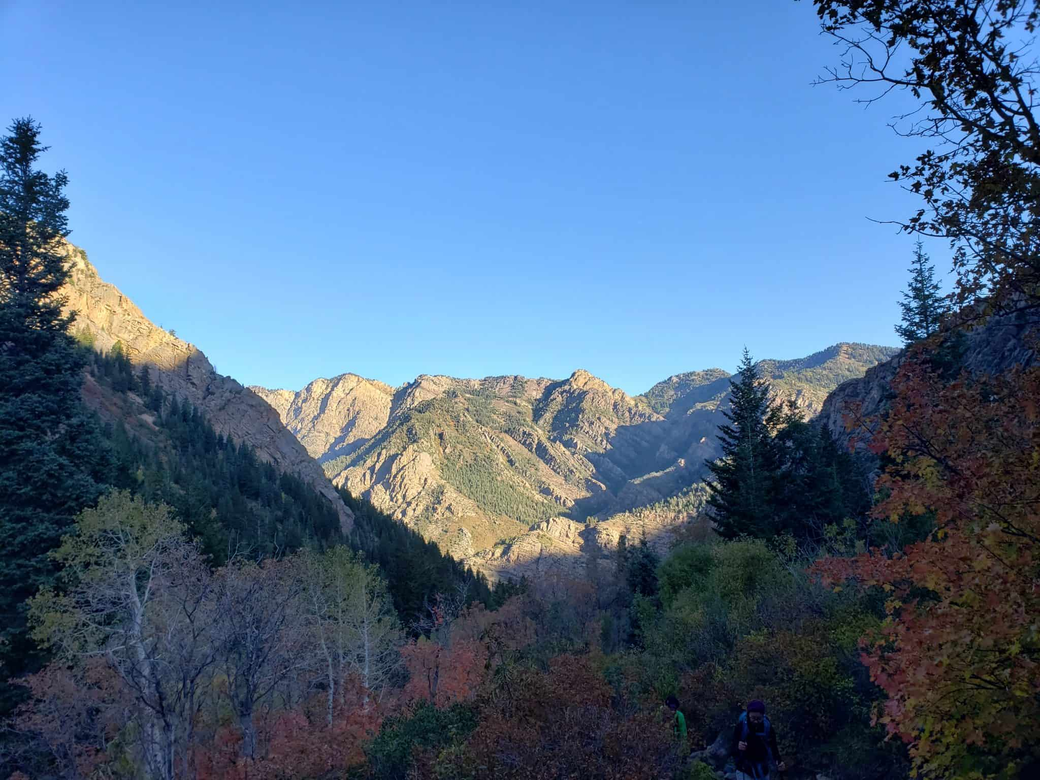Lake Blanche Trail Beautiful fall colors in Big Cottonwood Canyon on the Lake Blanche Hiking Trail