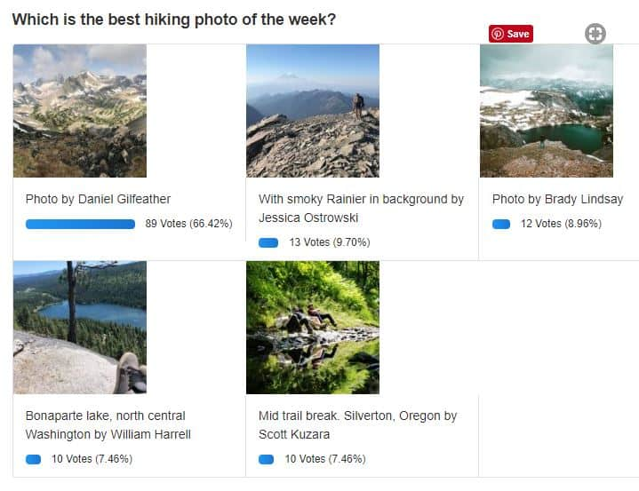 Best Hiking Photo of the Week 9/17/2018 Results