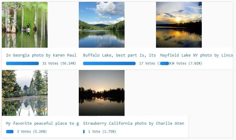 Best Peaceful and Scenic Backcountry Lake or River Photo of the Week 12-28-2018 Results
