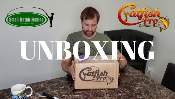 SBF Unboxing Catfish Pro Catfish Bait Giveaway Package Small Batch Fishing Series Cover