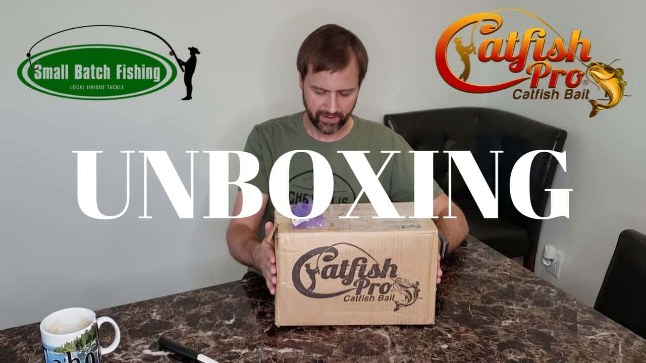 SBF Unboxing Catfish Pro Catfish Bait Giveaway Package Small Batch Fishing Series