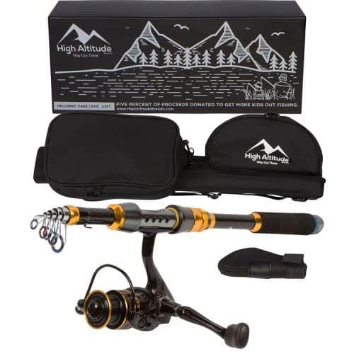 Spinning Reel Set For Hiking Backcountry TROUT Fishing Telescoping Rod Pole