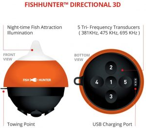 Overview of FishHunter Directional 3D Wireless, Portable Fish Finder